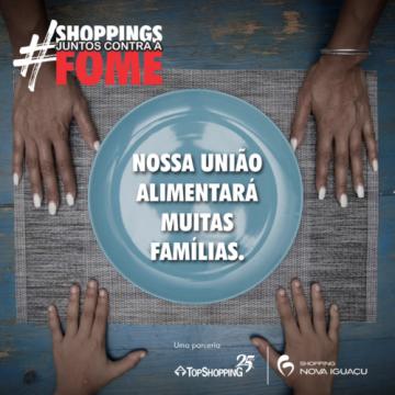 """CAMPANHA """"#SHOPPINGSJUNTOSCONTRAAFOME"""" GANHA PARCERIA DO KINOPLEX"""