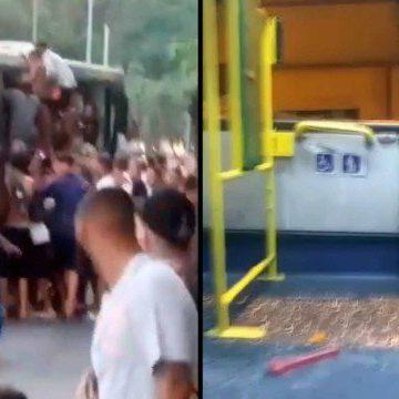 """Vandalismo:""""Trinta ônibus são depredados em domingo de forte calor e praias lotadas no Rio"""""""