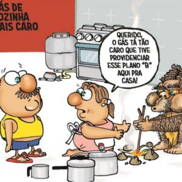 """DE NOVO?:""""Distribuidoras aumentam preço do botijão de gás em 7% para o consumidor"""""""