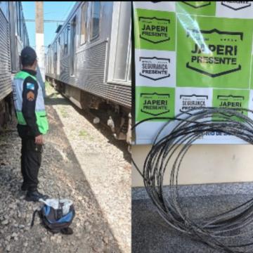 """AGORA VAI:""""Homem é preso ao ser flagrado furtando cabos na estação de Japeri"""""""