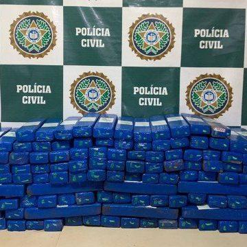 Polícia Civil prende homem que transportava 200 quilos de maconha do Sul do país para o Rio de Janeiro